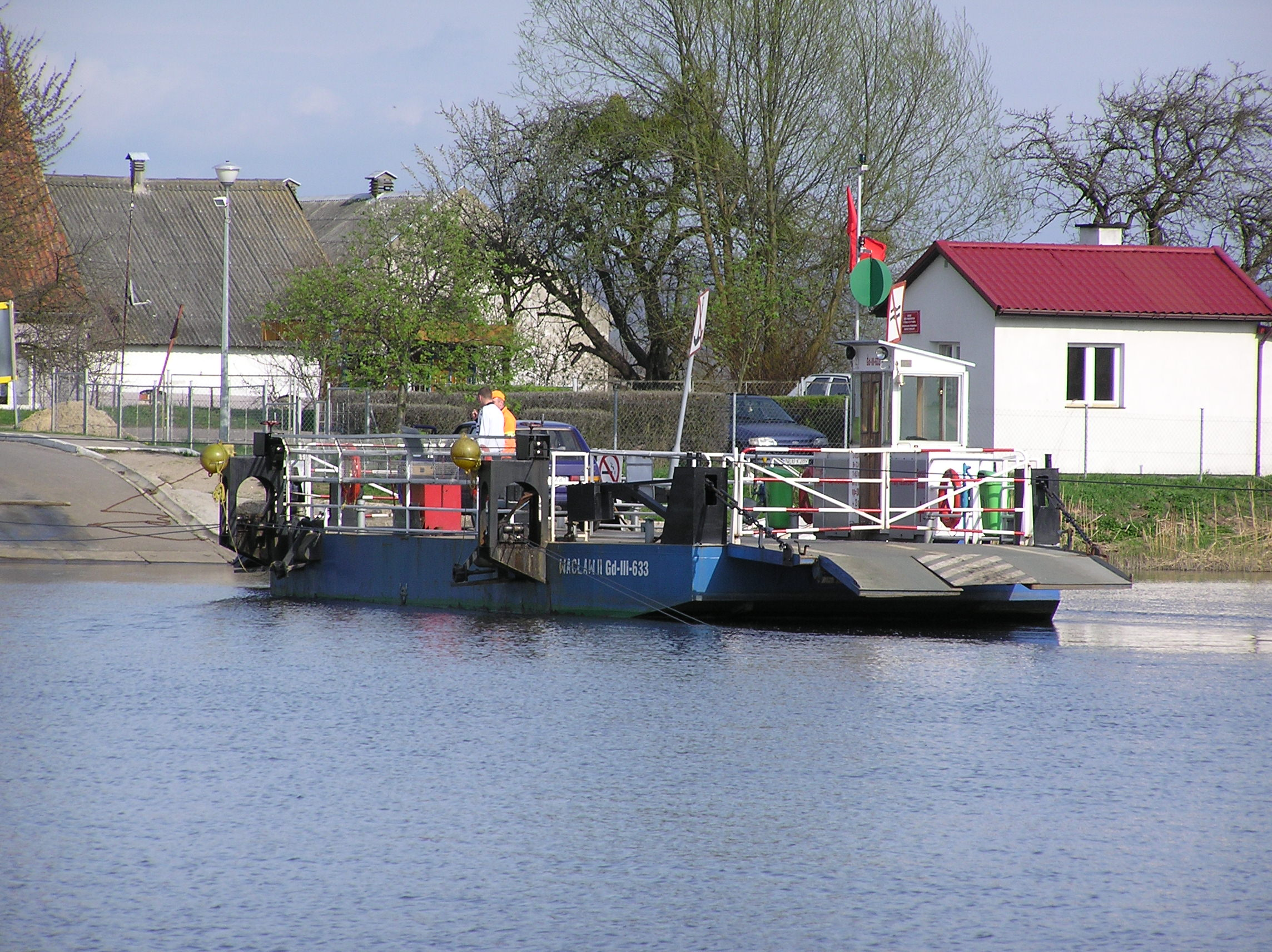 Ferry across the Nogat River